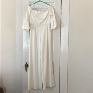 White Jay Godfrey 0 size jumpsuit. Worn only once!